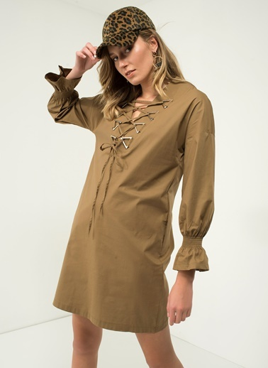 Bağcık Detaylı Elbise-People By Fabrika
